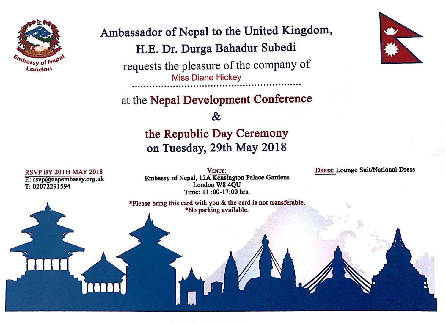 The Republic Day Ceremony and Nepal Development Conference