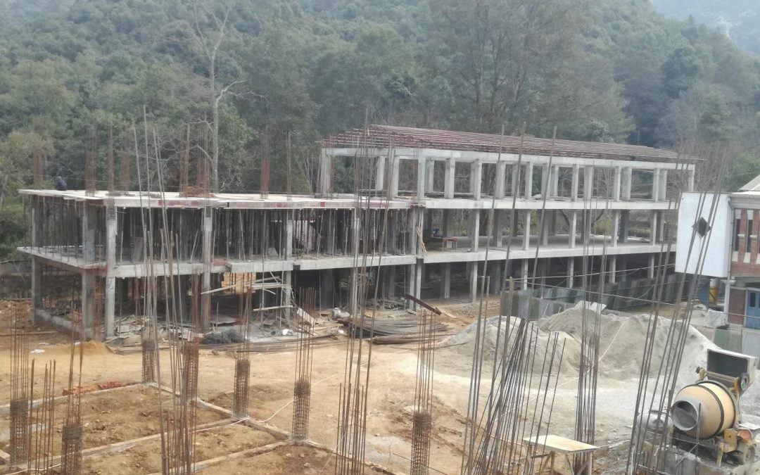 Construction Status of the New Academic Block  – January 2018