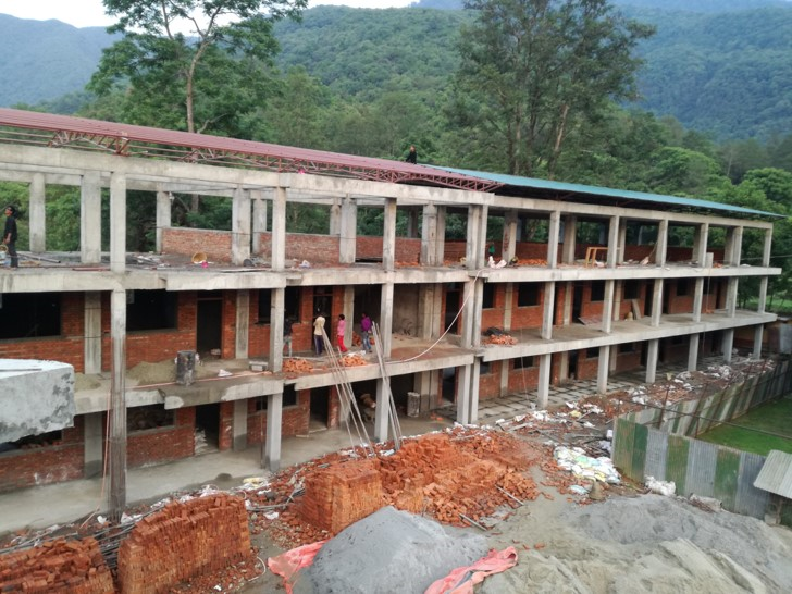 Construction Status of the New Academic Block – June 2018
