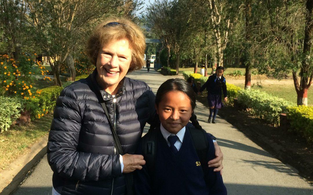 Catherine's Visit to St Xavier's School
