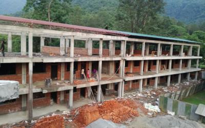 Construction Status of the New Academic Block – June 2018