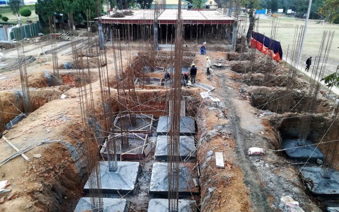 Construction Status of the New Academic Block – November 2017