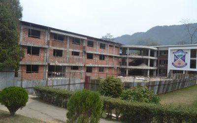 Phase 3 of the New Academic Block at St Xavier's Godavari is progressing rapidly.